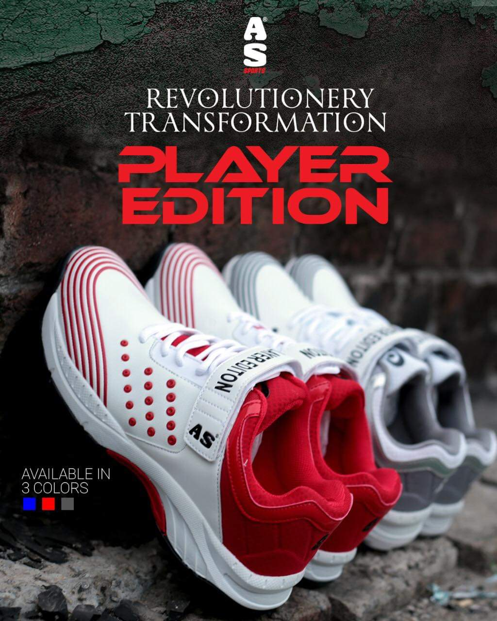 AS Sports Cricket Shoes - Player Edition